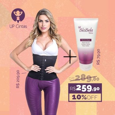 Kit Cintura Fina UP - Modeladora Longa