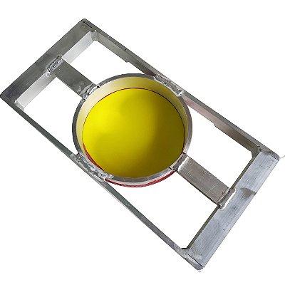 Tela de Alumínio Especial Diâmetro de 15cm e quadro 35x17cm