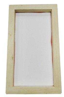 Tela Serigrafia 26x46cm 120 Fios POLIÉSTER Branco Quadro em Madeira