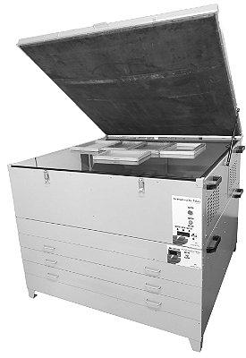 Mesa Gravadora para Telas Silk a Vácuo com sistema UV + Estufa 140 x 140 cm