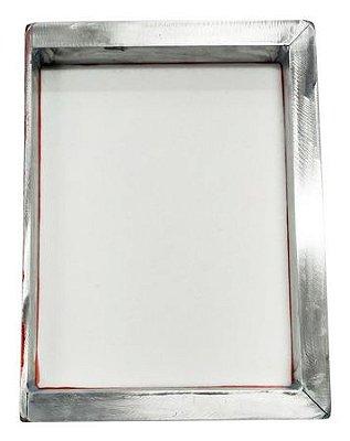 Tela Serigrafia 26x36cm 150 Fios POLIÉSTER Branco Quadro em Aluminio com uma Borda de 5mm