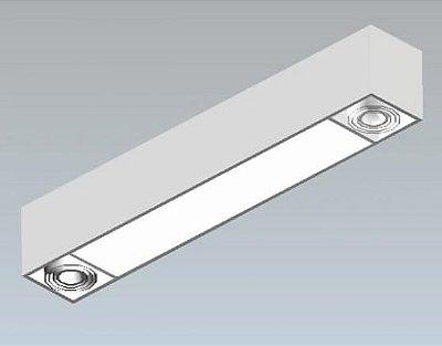 Luminaria Sobrepor 2 x T5 + 2 x GU10