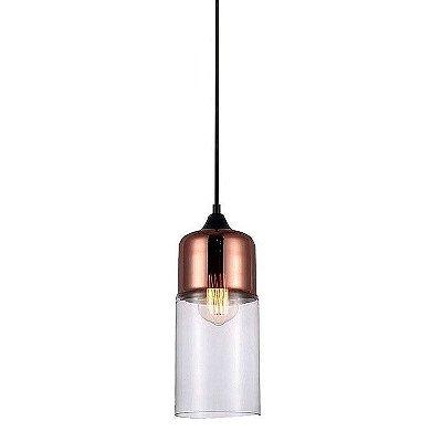 Pendente Vidro Lanterna Bi-Color PE-046
