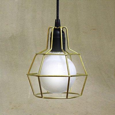 Luminária Pendente Aramado Pucon T203 Golden Arte
