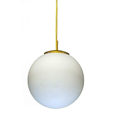 Luminária Pendente Bola Opalino T755-30 Cm Golden Art