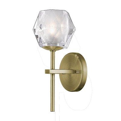 Luminária Arandela Metal e Vidro 29 x 11 x 12 Cm Bronze Newline Imports AR1174