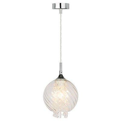 Luminária Pendente Em Vidro e Cristais Clear Premier A427