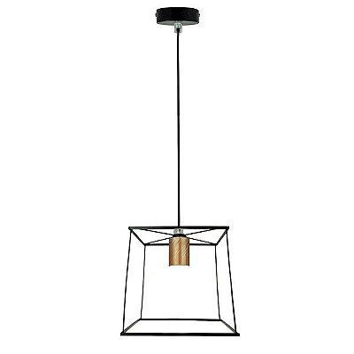Luminária Pendente Rústico Quadrado Premier P14102-1