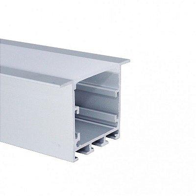 Perfil De Alumínio Para Embutir Alto com Difusor EKPF51