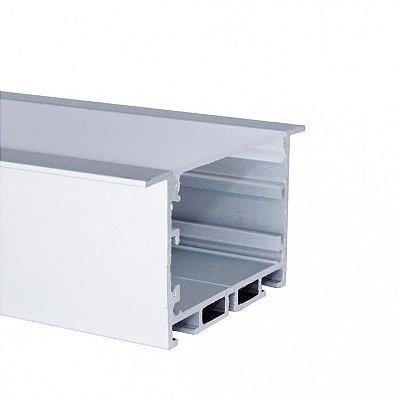 Perfil De Alumínio Para Embutir Alto com Difusor EKPF52