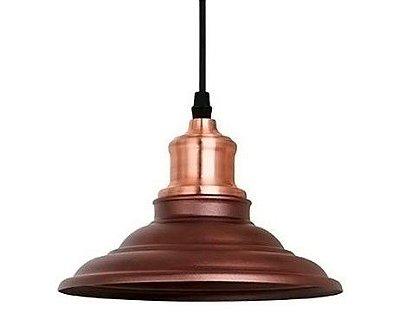 Luminária Pendente Vega Metal 1e27 Ø20x16 cm QPD1163 Quality/New Line