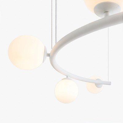 Lustre Pendente Arco 5 Bolas Golden Art T8080-V