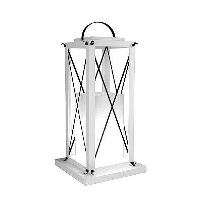 Luminária Coluna Chão Madeira Lanterna Accord 3025