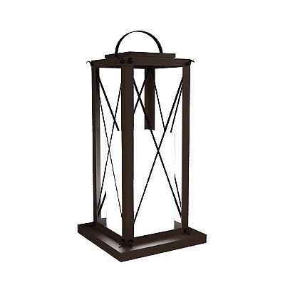 Luminária Coluna Chão Madeira Lanterna Accord 3012