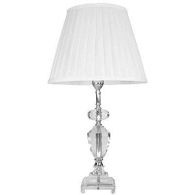 Abajur de Mesa em Cristal 8006 65 cm com a Cúpula Branca