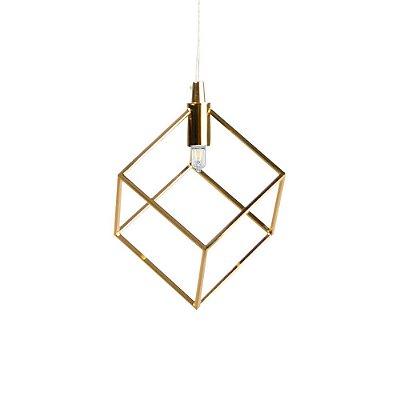 Pendente Aramado Cube Dourado Newline Pd937-do