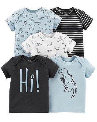 Kit 5 Camisetas  Carter's (pronta entrega)