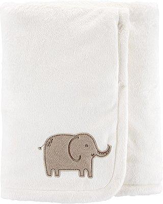 Cobertor Plush Ultra Macio Carter's Elefante Marrom