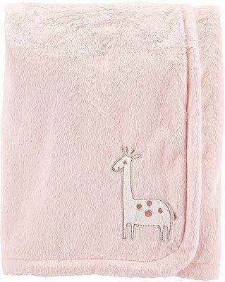 Cobertor Plush Ultra Macio  Carter's Girafa Rosa