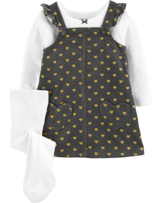 Vestido + Blusinha + Meia  Carter's (pronta entrega)