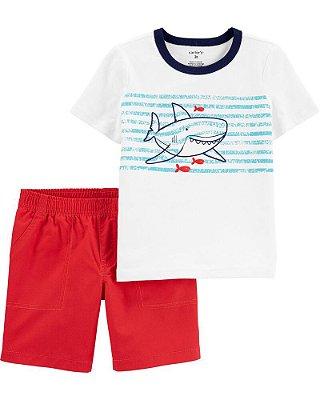 Conjunto Verão 2 peças - Shorts + Camisetinha Carter's