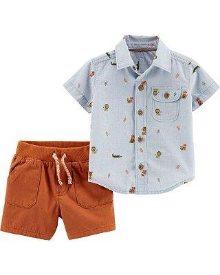 Conjunto Verão Coleção Especial Safari Carter's