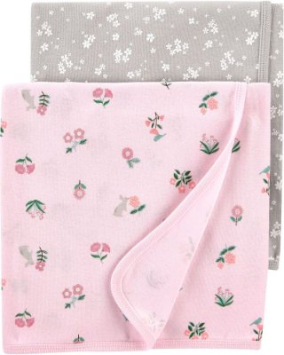 Kit 2 Mantinhas Swaddle Carter's