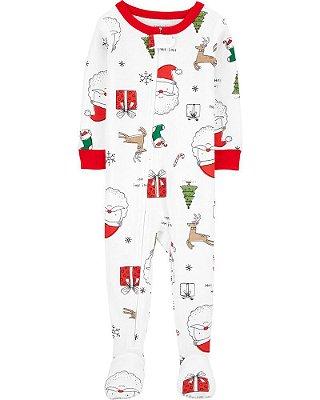 Macacão Pijama Algodão - Coleção de Natal