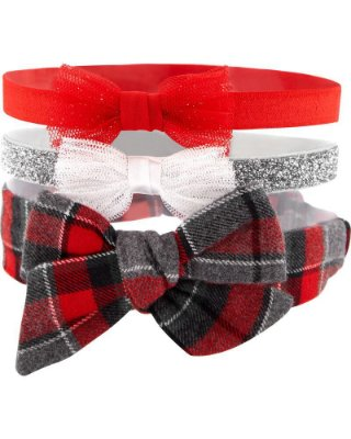 Kit 3 tiaras de cabelo Carter's - Coleção Natal