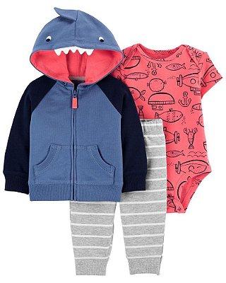 Conjunto de Inverno Tubarão Azul Carter's (pronta entrega)
