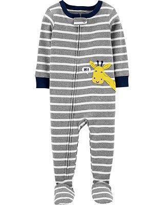 Macacão Pijama Girafa Cinza Carter's (pronta entrega)