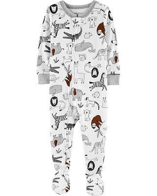 Macacão Pijama Safari Branco Carter's (pronta entrega)