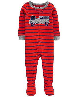 Macacão Pijama Bombeiro Vermelho Carter's (pronta entrega)
