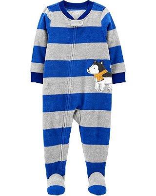 Macacão Pijama Plush Cachorro Azul Carter's (pronta entrega)