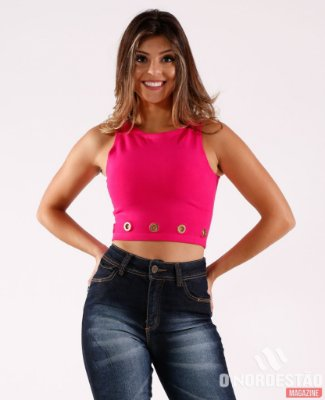 CROPPED COM ILHOES PINK