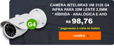 Camera Intelbras VM 3120 G4 2,8mm - Hibrida