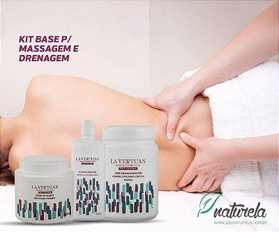 Kit BASE Profissional p/ Massagem e Drenagem Linfática
