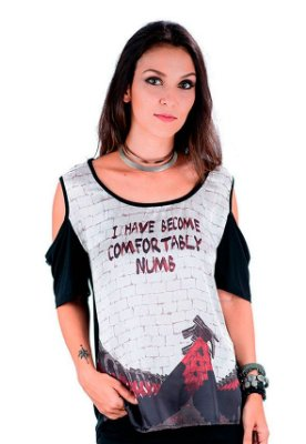 aeb5379fd Blusa Camiseta COMFORTABLY NUMB Pink Floyd