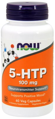 5-HTP 100 mg - Now Foods - 60 cápsulas