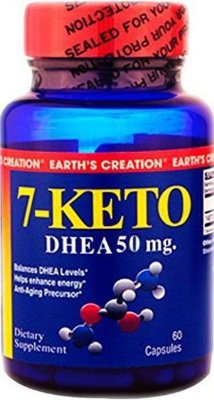 7-Keto DHEA 50 mg - Earth´s Creation - 60 cápsulas