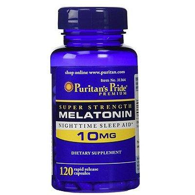 Melatonina 10 mg - Puritan´s Pride - liberação rápida - 120 cápsulas