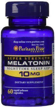 Melatonina 10 mg - Puritan's Pride - liberação rápida - 60 comprimidos