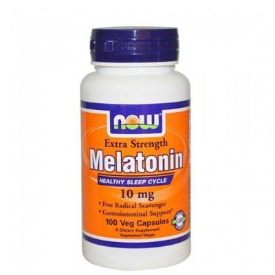 Melatonina 10 mg extra forte  - Now Foods - 100 cápsulas