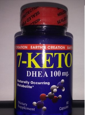 7-Keto DHEA 100 mg - Earth´s Creation - 60 cápsulas