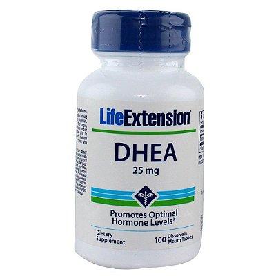 Comprar DHEA 25 mg Sublingual -  Life Extension - 100 comprimidos