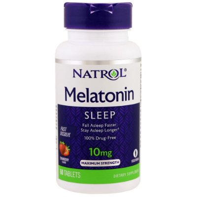 Comprar melatonina 10 mg Fast Dissolve sublingual sabor Morango - Natrol - 60 comprimidos