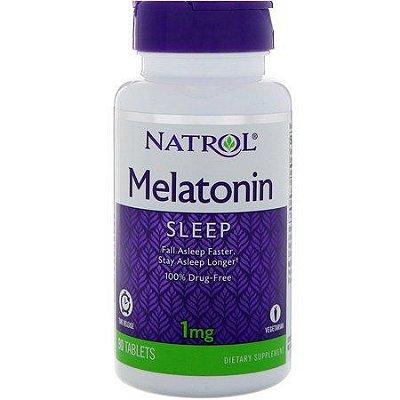 Comprar melatonina 1 mg Liberação Gradual -  Natrol - 90 comprimidos