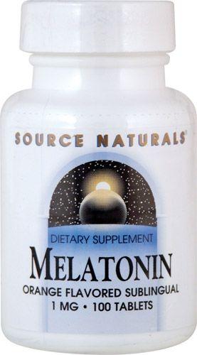 Comprar Melatonina 1 mg sublingual sabor Laranja - Source Naturals - 100 comprimidos (hormônio do sono)