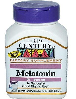 Comprar Melatonina 3 mg - 21st century  - 200 comprimidos