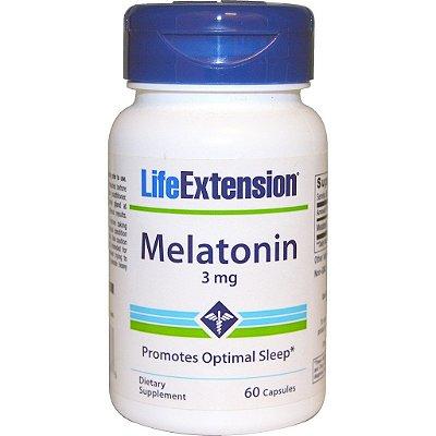 Comprar Melatonina 3 mg - Life Extension - 60 Cápsulas (hormônio do sono)